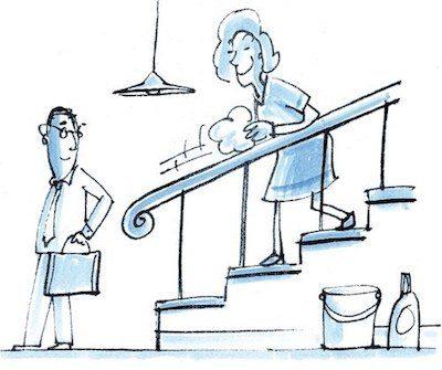 Reinigung für Treppenhäuser