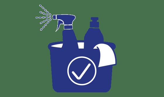 Reinigungsmittel inklusive