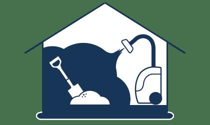 Reinigung von Baustellen