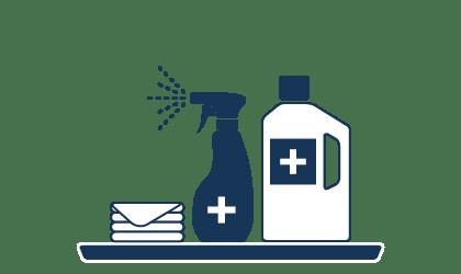 Desinfizierende Reinigung