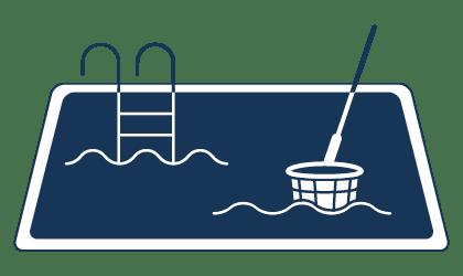 Reinigung von Swimming-Pools