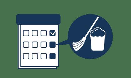 Regelmäßige Unterhaltsreinigung für zuhause