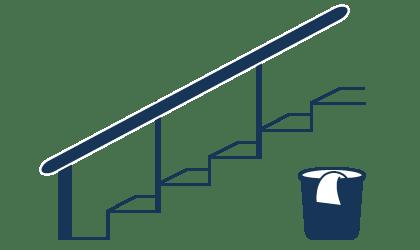 Reinigung für Stiegenhäuser