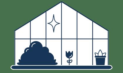 Glasreinigung von Wintergärten oder Sommergärten